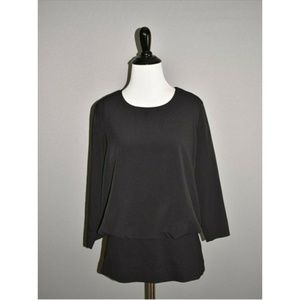CABI Black Indulgence Top 3/4 Sleeve Blouson